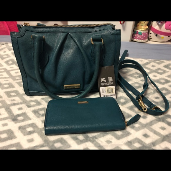 Burberry Handbags - Authentic Burberry satchel and matching wallet